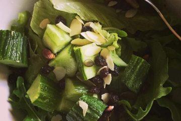 πράσινη σαλάτα Ξένια Κουσινιώρη fashion & lifestyle blog συνταγη πρασινης σαλατας
