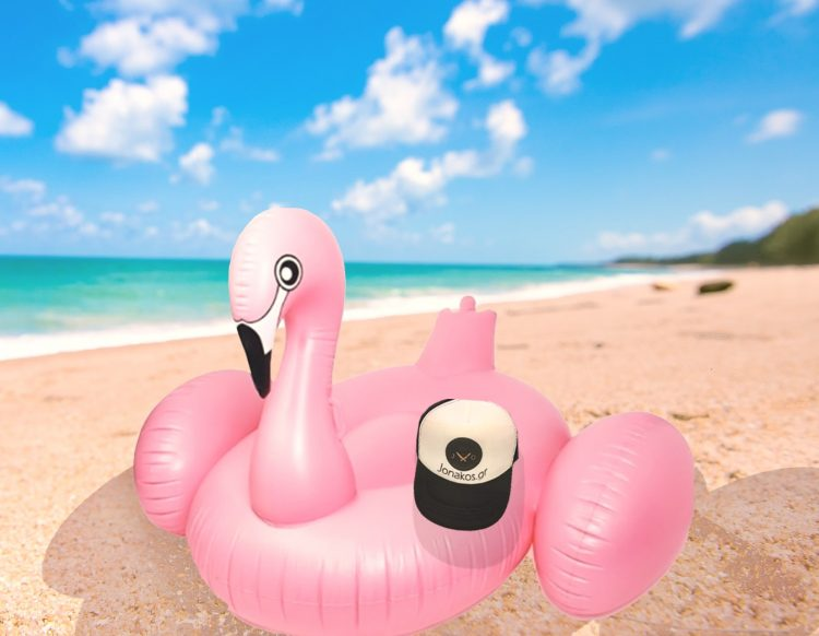 flamingo φουσκωτό jonakos.gr παραλία πάρε μαζί σου τρόφιμα