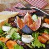 Σαλάτα με σύκο και ανθότυρο διατροφική σαλάτα jonakos.gr