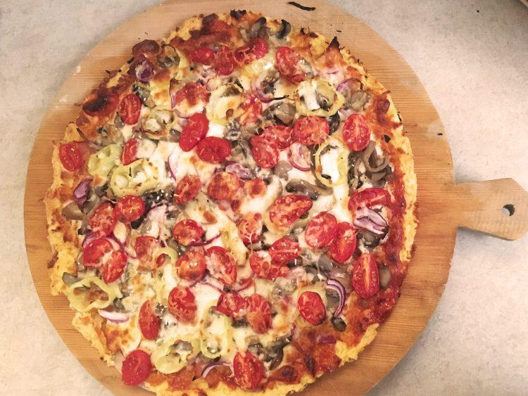 pizza λαχανικών πίτσα λαχανικών με ζύμη πατάτας jonakos.gr ζύμη πατάτας