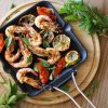 τηγανητές γαρίδες αρωματικές σχαροτήγανο Κώστας Μαγουλάς συνταγή μαγειρεύοντας εναλλακτικά υγιεινά