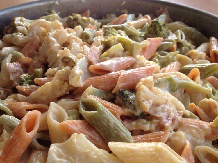 σουφλέ λαχανικών εύκολο γρήγορο μακαρόνια