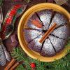 χριστουγεννιάτικο κέικ με κανέλα και πορτοκάλι