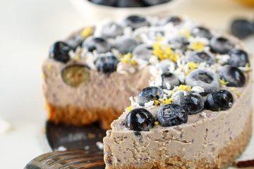 βίγκαν τζιζκέικ μύρτιλα συνταγή για βίγκαν γλυκό Κώστας Μαγουλάς μαγειρεύοντας εναλλακτικά και υγιεινά