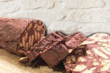 σοκολάτα κορμός μωσαικό μπισκότα